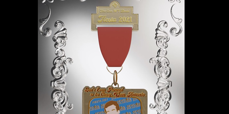SA Flavor is auctioning off a one-of-a-kind NFT Fiesta medal.