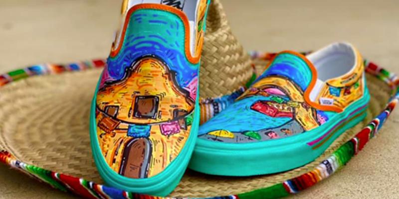 Edison High School student enters Vans Custom Culture contest with puro San Antonio-themed design