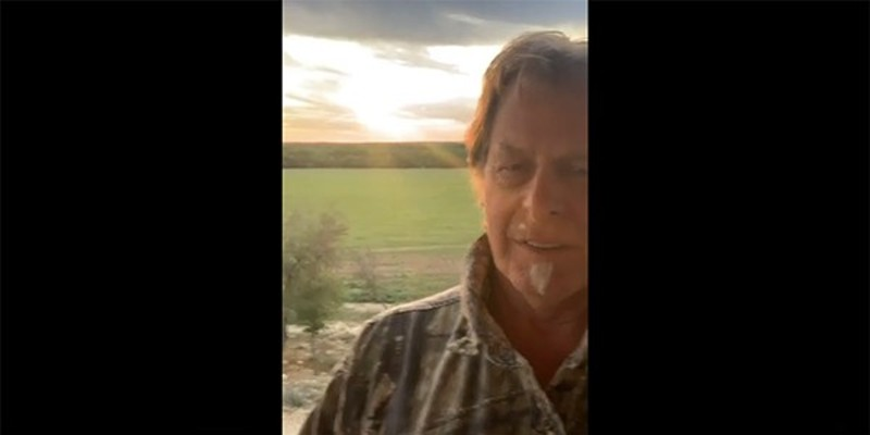 Fervent COVID-denier Ted Nugent posted this video clip in which he admits the coronavirus knocked him on his ass.