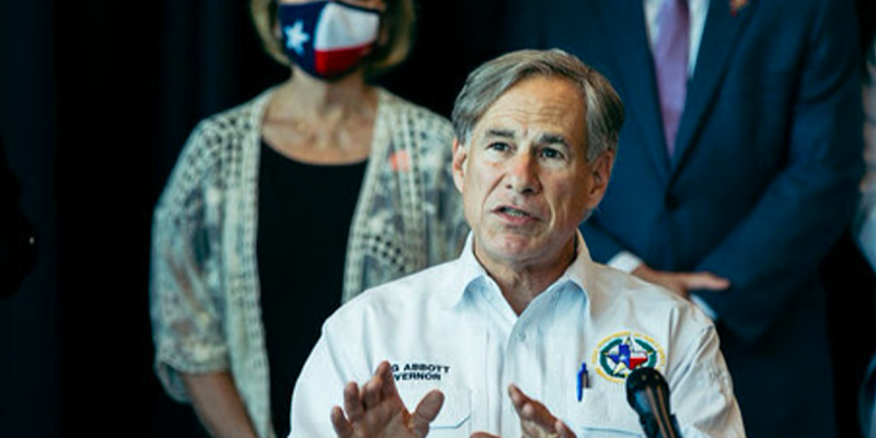 Texas Gov. Greg Abbott speaks during a press event.