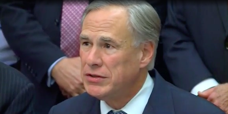 Gov. Greg Abbott amps up the rhetoric during Wednesday's news conference about a Texas border wall.
