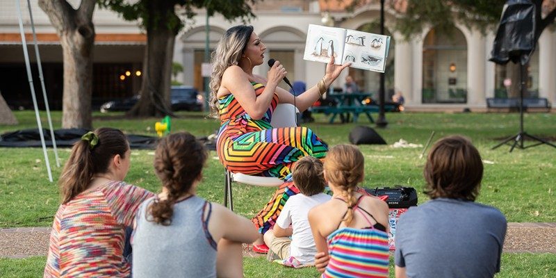 Local drag queen Kristi Waters is going to perform and read stories at Family Pride Night.