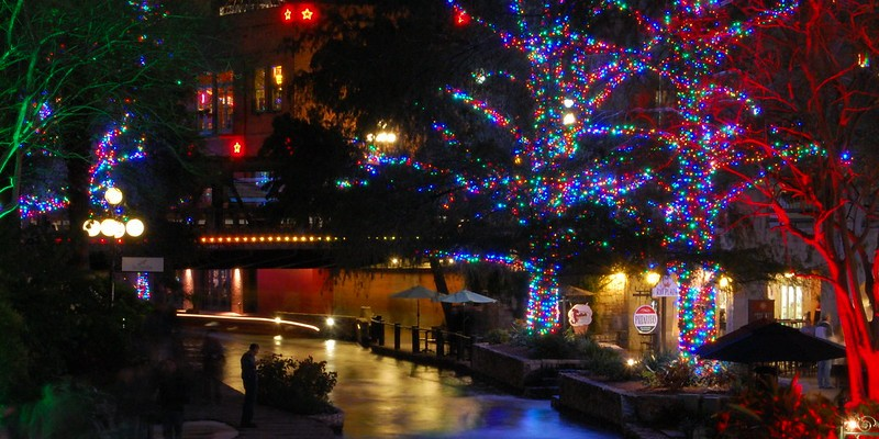 The San Antonio River Walk holiday lights will be switched on early again this year.