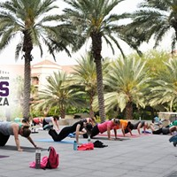 Free Fitness Class on the Plaza with JoyRide