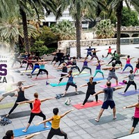 Free Fitness Class on the Plaza with Mobile OM