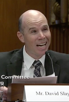 David Slayton testifies in front of the Senate Special Committee on Aging.