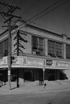 Photo of the Basila Frocks Building taken in 1933.