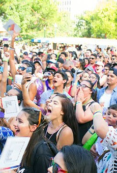 Festival goers cheered on performers at last year's Pride Bigger Than Texas Festival in Crockett Park.