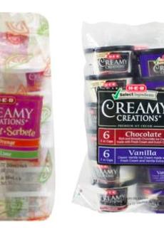 H-E-B Voluntarily Recalls Creamy Creations Variety Packs