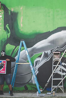 San Antonio Artists Putting Finishing Touches on New Manu Ginobili Mural