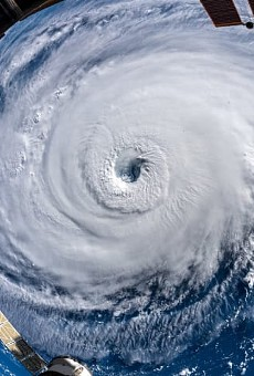 Hurricane Florence, as photographed from the International Space Station, is expected to linger over the Carolinas all weekend.
