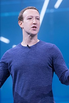 Facebook CEO Mark Zuckerberg speaks at the company's 2018 developer conference.
