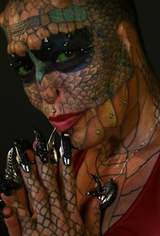 Meet the Texas-bred Dragon Lady: Tiamat Medusa Takes Body Modification to the Extreme