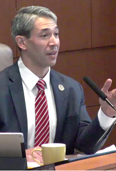 Mayor Ron Nirenberg addresses a recent council meeting.