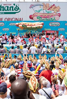 A view from the  Nathan's Famous hot-dog eating contest held on July 4, 2018.