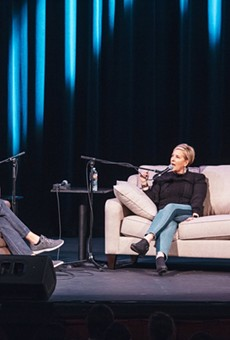 Armchair Expert hosts Shepard and Padman speak with Bréne Brown at the Austin, TX live show