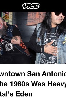 Vice Magazine Highlights San Antonio's Thriving '80s Metal Scene