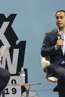 Julian Castro speaks onstage during an appearance at this year's South by Southwest festival.