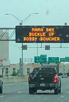 TxDOT References The Waterboy on Road Signs for Mother's Day Weekend