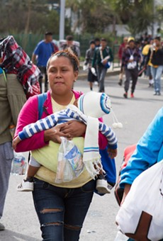 Central American asylum seekers photographed last year make their way through Mexico on the way to the U.S. border.