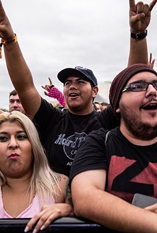 Fans rock out at River City Rockfest 2018.