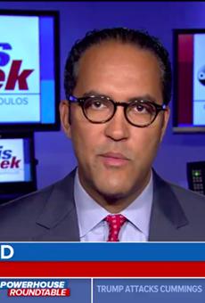 Will Hurd tells ABC News' George Stephanopoulos why Trump's latest Twitter tantrum isn't racist.