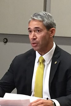 Mayor Ron Nirenberg responds to a question during a press conference Tuesday.