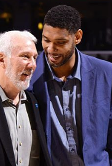 Gregg Popovich Doesn't Think Tim Duncan Will Stay in Spurs Assistant Coach Role for Long