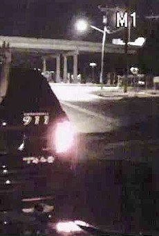 Dash camera video included in Natalie Simms' lawsuit shows her being searched by an SAPD officer.