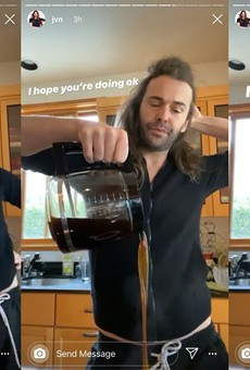 Queer Eye's Jonathan Van Ness Spotted Using H-E-B and Central Market Coffee Creamer