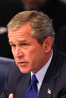 George W. Bush speaks to the UN in this file photo.