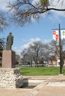 The Christopher Columbus Italian Society donated the statue in downtown's Columbus Park in 1957.
