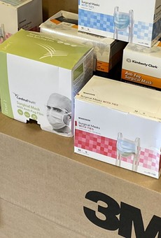 A shipment of authentic N95 masks and other PPE await distribution by Texas officials.