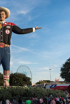 Big Tex greets fairgoers at the 2019 State Fair of Texas.