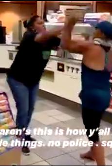 Video Shows San Antonio 7-Eleven Clerk Put Customer in a Headlock for Disturbance in Her Store