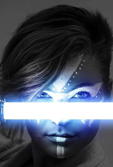 Model and cosplayer miss_mad_love collaborated with Daniel Grove for this Star Wars-themed composite image.