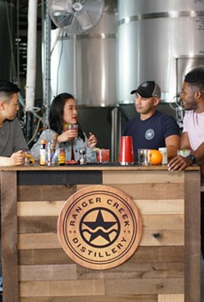 First-time homebuyers Kino (far left) and Mi taste local spirits at Ranger Creek Brewstillery on episode one of 'Beyond the Block.'