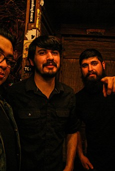 Jason Valdez (center) with The Lost Project.
