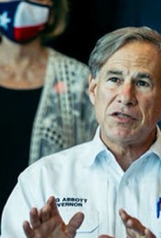 Texas Gov. Greg Abbott speaks during a recent press event.