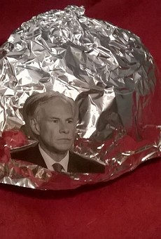 Apparently, the sale has discontinued for these premium Texas Governor Greg Abbott tinfoil hats. We're guessing they sold out.