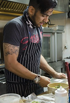 David Arciniega is around food all day, but living with Crohn's Disease, his options are limited.