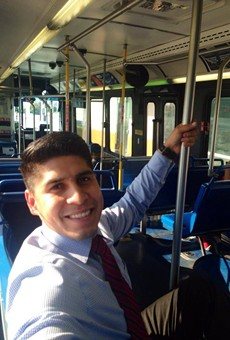 After District 4 Councilman Rey Saldaña posted this photo to social media, one of his constituents told him long bus rides were their reality.