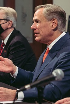 Texas Gov. Greg Abbott speaks at Thursday's news conference.