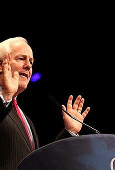 John Cornyn speaks during an appearance at the conservative CPAC conference.