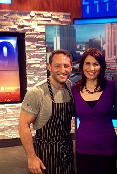 Chef David Gilbert (far left) with the Fox29 crew.