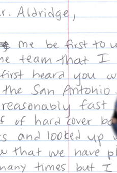 Read Tim Duncan's Adorable, But Fake Welcome Letter To LaMarcus Aldridge