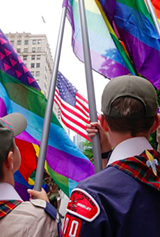 The Boy Scouts of America will now allow gay adult leaders.