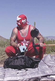 A pro wrestler searches for a legendary lost treasure in Little Red and the Rhode Island Strangler.