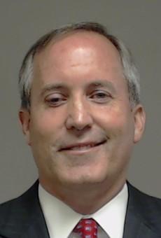 Attorney General Ken Paxton's mug shot.