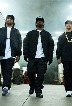 (From left) MC Ren, Ice Cube, Eazy-E, DJ Yella and Dr. Dre – the actors playing N.W.A in Straight Outta Compton, at least.